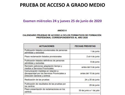 PRUEBAS DE GRADO MEDIO