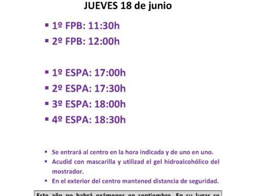 ENTREGA DE NOTAS ESPA Y FPB