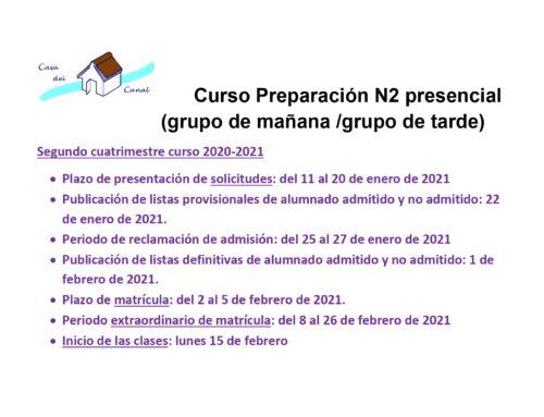 COMPETENCIAS N2 PRESENCIAL SEGUNDO CUATRIMESTRE