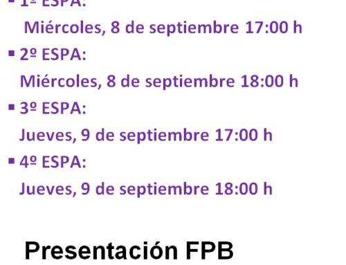 PRESENTACIÓN ESPA Y FPB